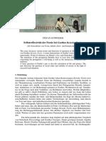 Schweizer - Selbstreflexivität der Poesie bei Goethes Reineke Fuchs