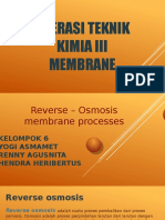 Reverse – Osmosis Membrane Processes
