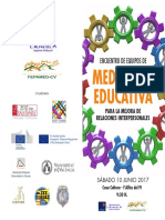 DIPTICO ENCUENTRO MEDIADORES COMUNIDAD VALENCIANA - Alfas del Pi - 10 de Junio de 2017