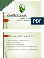 BSBRSK401 - Presentation