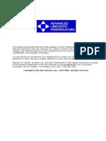 Advanced Linguistic Pointificators -Established - Financial Plan