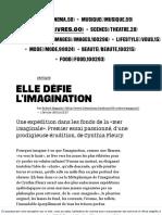 (8) Elle Défie l'Imagination - Culture _ Next