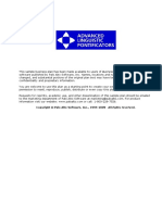 Advanced Linguistic Pointificators- Startup- Standard