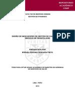 DISEÑO DE INDICADORES DE GESTIÓN DE CALIDAD EN UN SERVICIO DE ODONTOLOGÍA