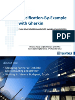 Specification by Example With Gherkin