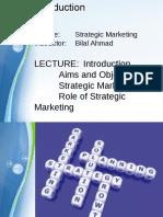 Strategic Marketing Lecture 1