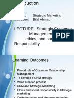 Strategic Marketing Lecture 5