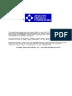 Advanced Linguistic Pontificators-Established - Long term.doc