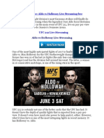 Ufc 212 Live - Aldo vs Holloway Live Streaming Free