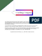 Coaching Company -Startup- Long Term