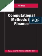 Computational Methods in Finance by Ali Hirsa