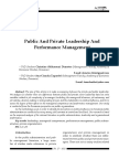 Public And Private leadership And Performance Management