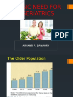 Basic Need for Geriatrics