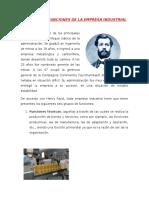 Principales Funciones de La Empresa Industrial