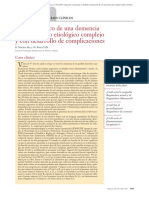 Caso Clínico. Un Caso Clínico de Una Demencia de Diagnóstico Etiológico Complejo y Con Desarrollo de Complicaciones