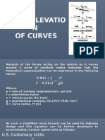 Superelevation of Curve