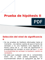 Prueba de Hipótesis II