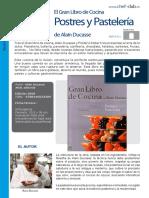 Libro Cocina 024 Postres Ducasse