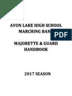 alhs majorette   guard handbook 2017 created 5 16