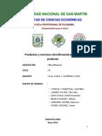 Productos y Servicios Microfinancieros