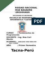 1FUNDAMENTOS DE LA PROGRAMACION .... ESIS PRACTICA 2 ...BORLAND C++