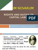 Rerum Novarum- Report
