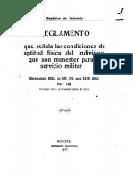 1917 - Reglamento de Actitud Física. Ejército de Colombia.