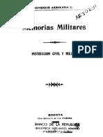 1908 - Instrucción Civil y Militar. Colombia.