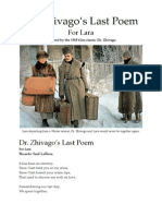 Dr. Zhivago`s Last Poem