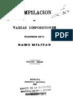 1907 - Disposiciones sobre el Ramo Militar