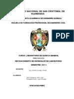 Materiales de Laboratorio (Practica i)Quimica 141