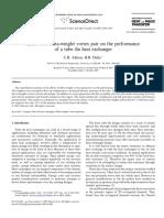 International Journal of Heat and Mass Transfer Volume 50 issue 25-26 2007 [doi 10.1016%2Fj.ijheatmasstransfer.2007.08.003] C.B. Allison; B.B. Dally -- Effect of a delta-winglet vortex pair on the per.pdf