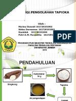 Teknologi Pengolahan Tapioka Dengan Produk Samping