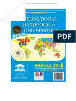 World Higher Education Database 2018 by UNESCO