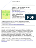 Community Resilience_An Indicator of Social Sustainability