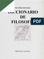 José Ferrater Mora - Diccionario Filosófico S.pdf