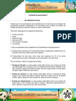 AA3 Evidencia Análisis de Calidad de La Leche