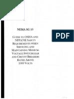 Nema Sg 10 Safety Requirements When Servicing and Maintaining Medium-Voltage Switchgear
