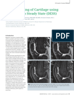 3T MR Imaging of Cartilage Using 3D Dual Echo Steady State (DESS)