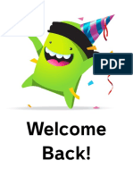 Poster - Welcome Back 1