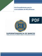 09. Manual de Procedimientos Para La Constitución de Entidades de Microfinanzas