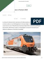 Le Ferroviaire Au Maroc à l'Horizon 2020