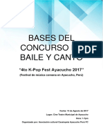 Bases Del Concurso de Baile y Canto del 4to K-pop Fest Ayacucho Perú FC
