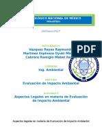 Aspectos Legales en Materia de Evaluación de Impacto Ambiental