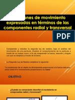 Ecuaciones de Movimiento Expresadas en Términos de Las Componentes Radial y Transversal
