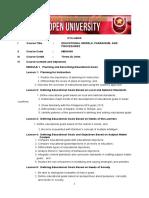 MEM 649 - Educational Models, Paradigms, And Procedures
