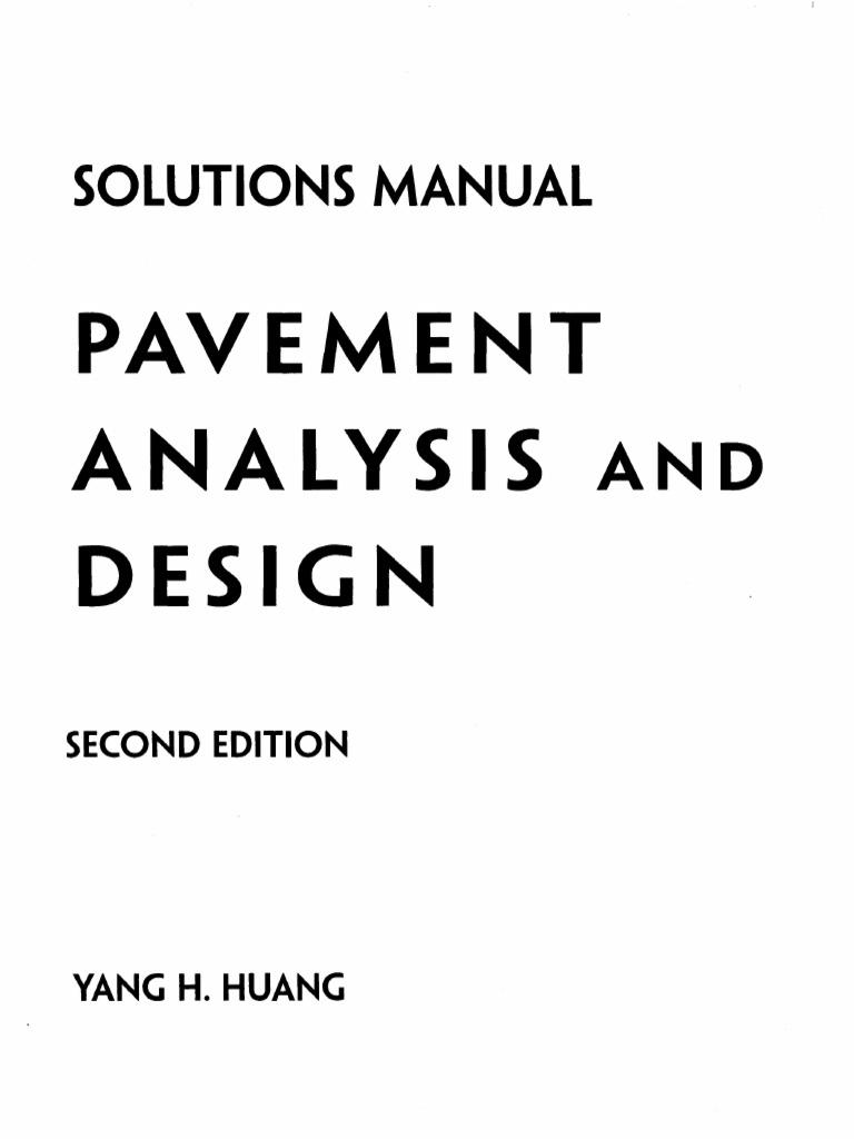 310800255 pavement analysis design 2nd edition solution manual pdf rh scribd com pavement analysis and design solution manual free download pavement analysis and design 2nd edition solution manual zip