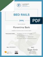 Florentina Barb Bed Rails Certificate