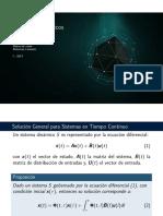 Soluciones General Para sistemas en tiempo continuo