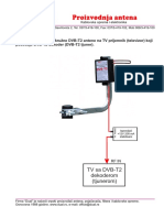 Spajanje Kruzne DVB T2 Antene Sa Televizorom Sa DVB T2 Tjunerom